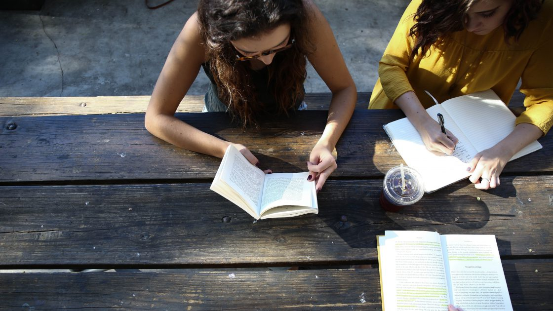 reading-and-writing-group-outdoors_5-ways-to-promote-mental-health
